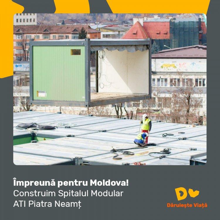 Apel la mobilizare pentru finalizarea Spitalului Modular ATI Piatra Neamț